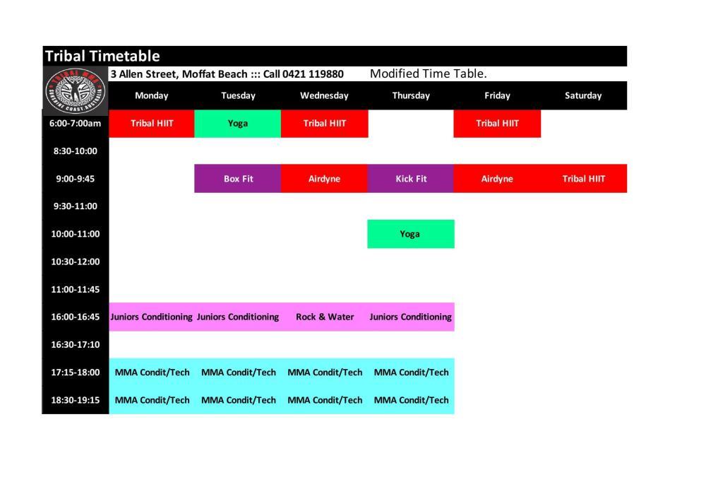 Tribal Timetable Covid 19_000001